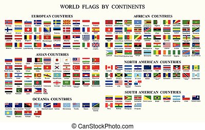 World Flag Collection-World flags by Continents