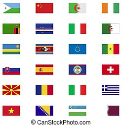 World flag icon collection