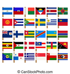 World flag icons set 7