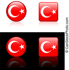 World flag series: Turkey