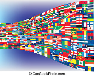 All flags of the world, vector illustration