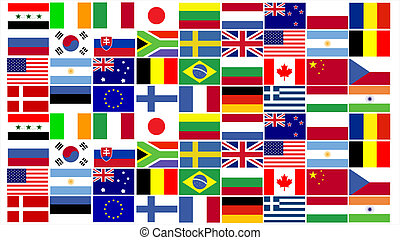 World Flags combined - Combination of world flags