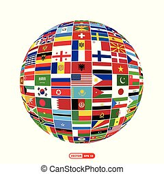 World flags design vector