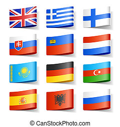 World flags. Europe. - Vector illustration of world flags....