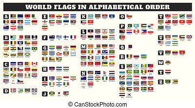 World flags in alphabetical order
