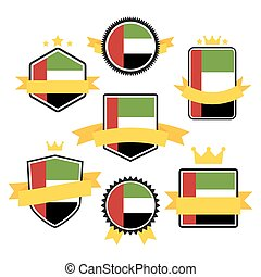 World Flags Series. Flag of United Arab Emirates