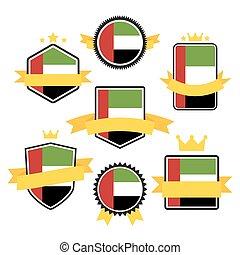 World Flags Series. Flag of United Arab Emirates