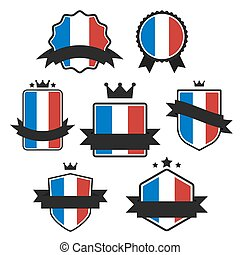 World Flags Series. Vector Flag of France.