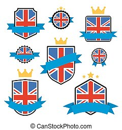 World Flags Series. Vector Flag of United Kingdom.