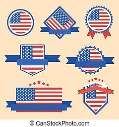World Flags Series. Vector Flag of USA.