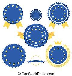 World Flags Series. Vector Flag of European Union.