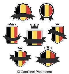 World Flags Series. Vector Flag of Belgium.