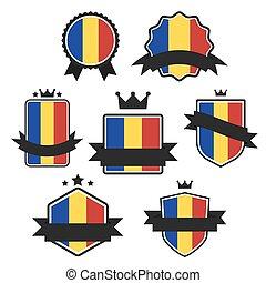 World Flags Series. Vector Flag of Romania.