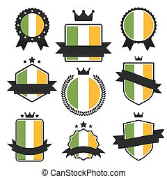 World Flags Series. Vector Flag of Ireland.