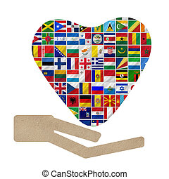 world flags with Cooperation