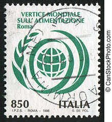 World Food Day - ITALY - CIRCA 1996: stamp printed by Italy,...