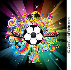 World Football ChampionShip Disco Party Flyer Background