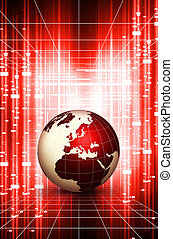 World globe action backgroud. Technology concept background....