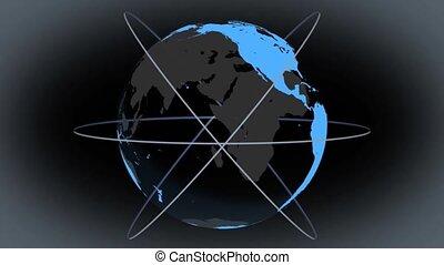 world globe animation