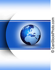World globe design concept