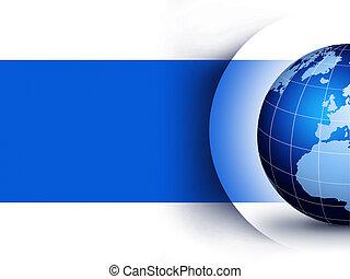 World globe design concept - Blue world globe design...