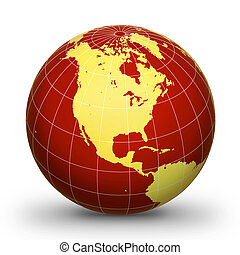 WorLd GloBe Geographic 2 - World globe - world...