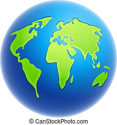 World Globe - globe illustration