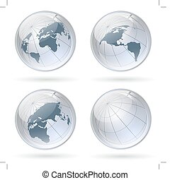 world globe glossy balls