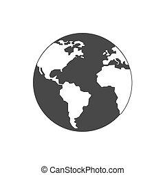 World, globe icon. Symbol in trendy flat style isolated on white background.