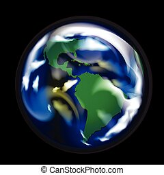 World globe map