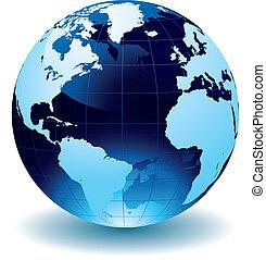 World Globe Maps illustration