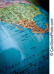 World globe Mexico