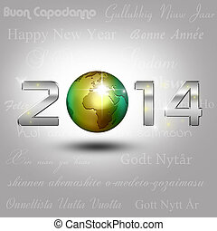 World Globe New Year 2014