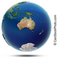 World globe - Oceania