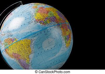 World Globe on Black