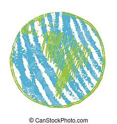World globe sketch