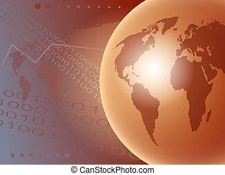 World Globe - World globe concept illustration.