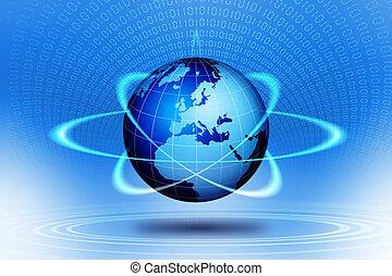 World globe technological action. - World globe...