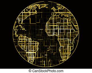 World globe technology abstract