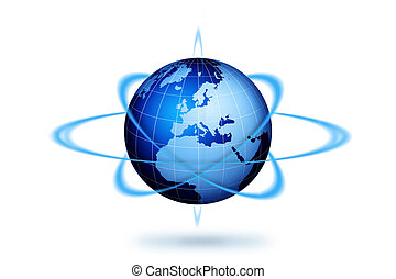 World globe travel concept
