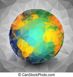 World globe triangle design vector illustration