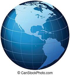 World Globe - USA view