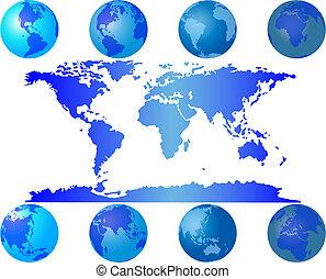 world globes - Set of worls globes for design use