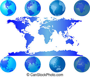world globes - Set of worls globes for design use