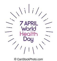 World Health Day 7 April Text Banner Thin Line