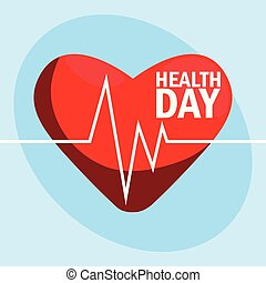 world health day card with heart