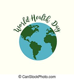 World health day card with typography