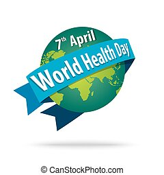 world health day. concept with the earth