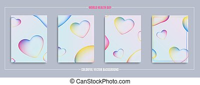 World Health Day modern abstract covers set.