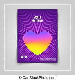 World Health Day. Modern abstract vector cover.